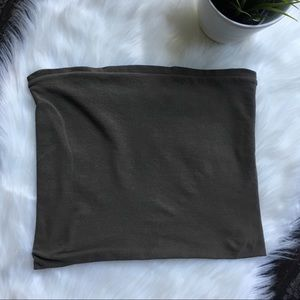 THEORY Brown Tube Top One Size